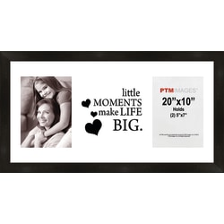 "PTM Images Photo Frame, Little Moments, 22""H x 1 1/4""W x 12""D, Black"