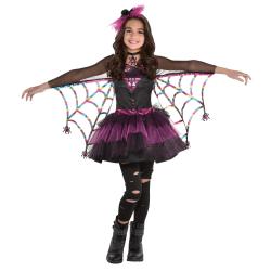 Amscan Miss Wicked Web Girls' Halloween Costume, Medium