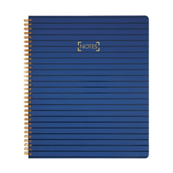 """Office Depot® Brand Premium Notebook, 8 1/2"""" x 11"""", College Ruled, 200 Pages (100 Sheets), Navy"""