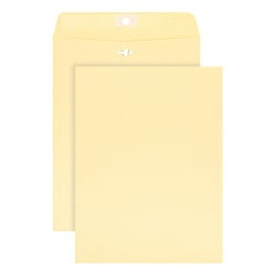 "Office Depot® Brand Clasp Envelopes, 9"" x 12"", Manila, Box Of 100"