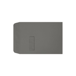 """LUX Open-End Window Envelopes With Moisture Closure, #9 1/2, 9"""" x 12"""", Smoke, Pack Of 50"""