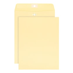"Office Depot® Brand Clasp Envelopes, 10"" x 13"", Manila, Box Of 100"