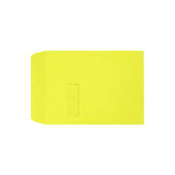"LUX Open-End Window Envelopes With Moisture Closure, #9 1/2, 9"" x 12"", Citrus, Pack Of 50"