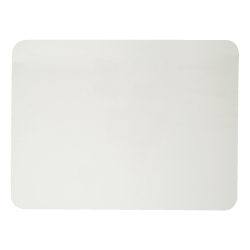 "Charles Leonard Plain Dry-Erase White Lap Boards, Masonite, 9"" x 12"", White, Pack Of 12"