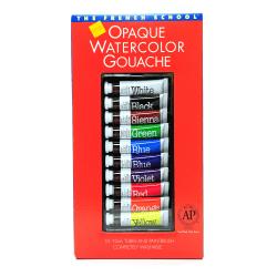 Savoir-Faire The French School Opaque Watercolor Gouache Tube Set, 10 mL, Set Of 10