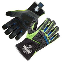 Ergodyne ProFlex 925WP Performance Dorsal Impact-Reducing Thermal Waterproof Gloves, Small, Lime