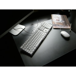 "Floortex Desktex PVC Smooth-Back Desk Mats, 19"" x 24"", Clear, Pack Of 4"