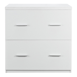 """Ameriwood™ Home Princeton 30""""W Lateral 2-Drawer File Cabinet, White"""