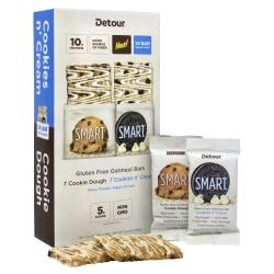 Detour Gluten-Free Cookie Dough And Cookies 'n Cream Oatmeal Bars, 1.3 Oz, Pack Of 14 Bars