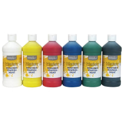 Handy Art Masters Washable Tempera Paint - 16 oz - 6 / Set