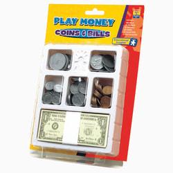 "Educational Insights® Play Money Coins And Bills Tray, 10""H x 6 1/2""W x 1 1/2""D, Kindergarten - Grade 5"