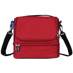 Wildkin Double Decker Lunch Bag, Cardinal Red