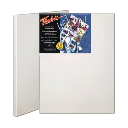 "Fredrix Archival Watercolor Stretched Canvases, 9"" x 12"", Pack Of 2"