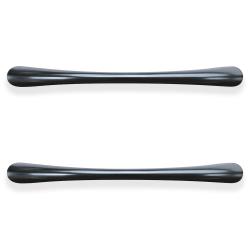 """Lorell® Laminate Drawer Pulls, Transitional, 4.5""""W, 2-Pack, Black"""