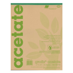 "Grafix Matte Acetate Film Pad, 11"" x 14"", 0.005"" Thick, 25 Sheets"