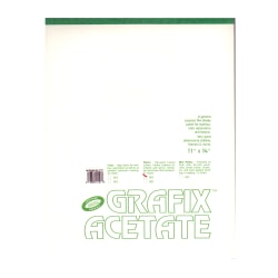"Grafix Matte Acetate Film Pad, 11"" x 14"", 0.003"" Thick, 25 Sheets"
