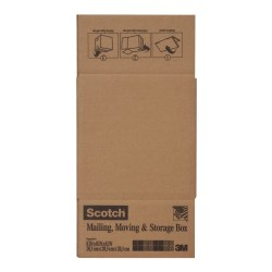 "Scotch® Mailing Box, 8""H x 8""W x 8""D, Brown"