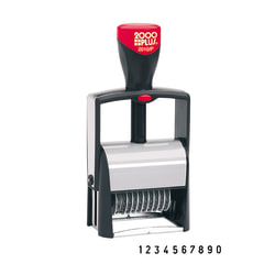 """Cosco® 2000 Plus® Self-Inking Numbering Stamp, 10-Number Bands, 3/16"""" x 1 5/8"""", Black Ink"""