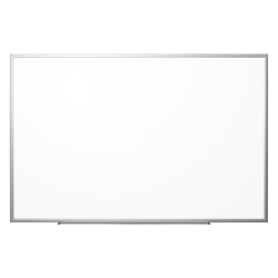 """Realspace™ Magnetic Dry-Erase Whiteboard, 48"""" x 72"""", Aluminum Frame With Silver Finish"""