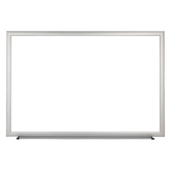 """FORAY™ Magnetic Dry-Erase Boards With Aluminum Frame, Melamine Board, 48"""" x 96"""", White Board, Silver Frame"""