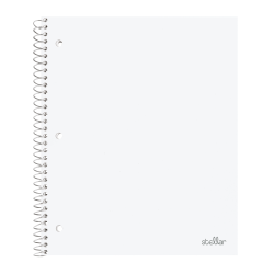 """Office Depot® Brand Stellar Poly Notebook, 8"""" x 10 1/2"""", Wide Ruled, 200 Pages (100 Sheets), White"""