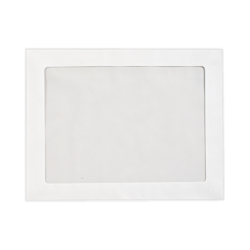"LUX Full-Face Window Envelopes With Peel & Press Closure, #93, 9 1/2"" x 12 1/2"", Bright White, Pack Of 50"