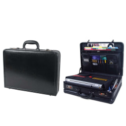 Samsonite® Bonded Leather Computer Attaché, Black