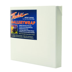"""Fredrix Gallerywrap Stretched Canvases, 8"""" x 8"""" x 1"""", Pack Of 2"""