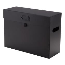 "See Jane Work® Standard-Duty Storage File Box, Letter Size, 14"" x 10 1/4"" x 14"", Black"