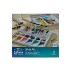 Winsor & Newton Cotman Watercolor Palette Set, 0.27 Oz, Set Of 10