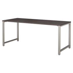 """Bush Business Furniture 400 Series Table Desk, 72""""W x 30""""D, Storm Gray, Standard Delivery"""