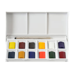 Winsor & Newton Cotman Watercolor Sketchers' Pocket Box, Set Of 12