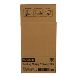 "Scotch® Moving And Storage Box, 10""H x 10""W x 10""D, Brown"