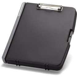 "OIC Triple File Form Holder Storage Clipboard Box, 8 1/2"" x 11"", Black"