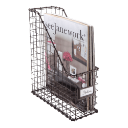 See Jane Work® Wire Magazine File, Rustic Bronze
