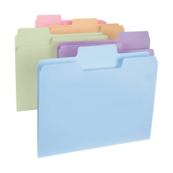 Smead® SuperTab® File Folders, Letter Size, 1/3 Cut, Assorted Colors, Box Of 100