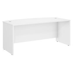 "Bush Business Furniture Studio C Bow Front Desk, 72""W x 36""D , White, Standard Delivery"