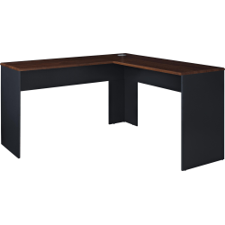 Ameriwood™ Home The Works L-Shaped Desk, Cherry/Gray