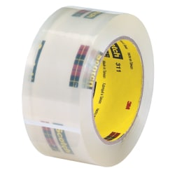 """3M® 311 Carton Sealing Tape, 2"""" x 110 Yd., Clear, Case Of 36"""