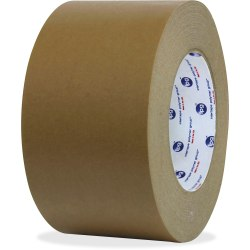 """ipg Medium Grade Flatback Tape - 60 yd Length x 3"""" Width - Synthetic Rubber Backing - 16 / Carton - Brown"""