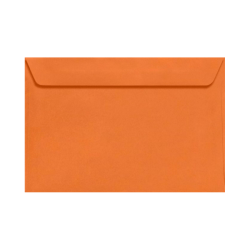 "LUX Booklet Envelopes With Moisture Closure, 6"" x 9"", Mandarin Orange, Pack Of 50"