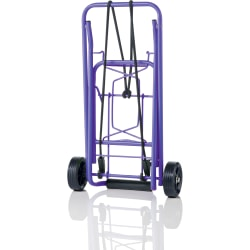 "Conair Travel smart TS36 Folding Luggage Cart - 80 lb Capacity - 3.75"" Caster Size - Steel - Purple"