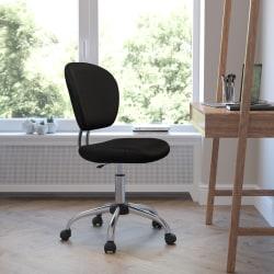 Flash Furniture Mesh Mid-Back Swivel Task Chair, Black/Silver