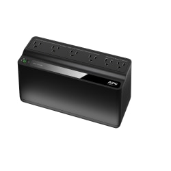 APC Back-UPS BE425M Battery Backup, 6 Outlet, 425VA/255W