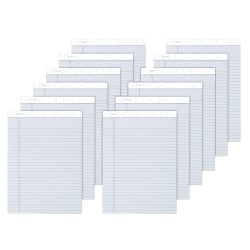 """TOPS™ Prism+™ Color Writing Pads, 8 1/2"""" x 11 3/4"""", Legal Ruled, 50 Sheets, Gray, Pack Of 12 Pads"""