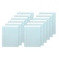 """TOPS™ Prism+™ Color Writing Pads, 8 1/2"""" x 11 3/4"""", 100% Recycled, Legal Ruled, 25 Sheets, Blue, Pack Of 12 Pads"""