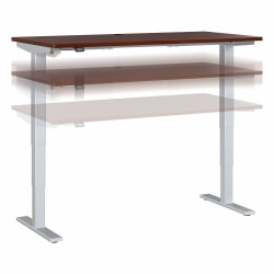 "Move 40 Series by Bush Business Furniture Height-Adjustable Standing Desk, 60"" x 30"", Hansen Cherry/Cool Gray Metallic, Standard Delivery"