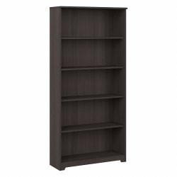 Bush Furniture Cabot 5 Shelf Bookcase, Heather Gray, Standard Delivery