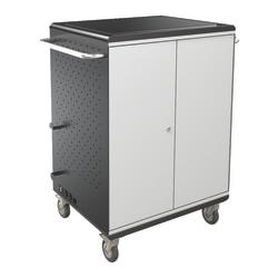 "Balt® A La Cart Steel Tablet Security And Charging Cart, 36.75"" x 31.75"" x 20.13"", Gray, 27698A"