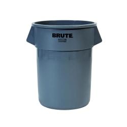 Rubbermaid® Commercial BRUTE® Round Plastic Refuse Container, 55 Gallon, Gray